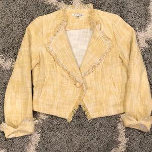 Cabi Ladies Tweed Style Yellow Blazer M